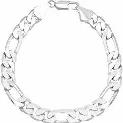 White Men Silver Bracelets