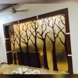 Digital Printed Glass Partition, For Home,Restaurant