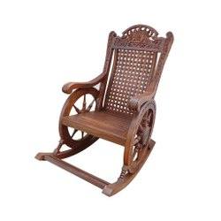 16l*14w Inches Weight: 12 Kg Wooden Rocking Chair, Finish: Polished