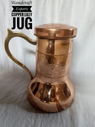 Copper Lily Jug Copper Pitcher