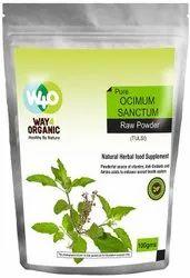 绿色方式4有机纯Tulsi(OCimum Sanctum)原料粉 -  100g,包装类型:袋