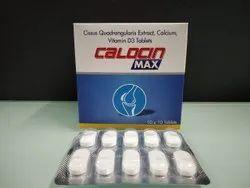Cissus Quadrangularis 500 mg., Calcium 500 mg., Vitamin D3  1000 iu