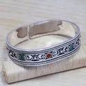 925 Sterling Silver Turquoise And Carnelian Gemstone Jewelry Bangle SJWB-66