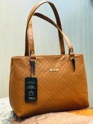 B Blues Leather Ladies Yellow Shoulder Bag, 350 G