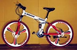 White Red BMW Foldable Cycle
