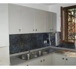 Modern Interior Design Kitchen, Work Provided: Wood Work & Furniture