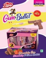 Gun And Bullet Shape Chocolate