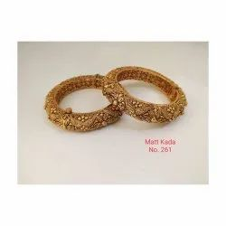 Party Wear Traditional Spectrum Jaipur Artificial Golden Bangles