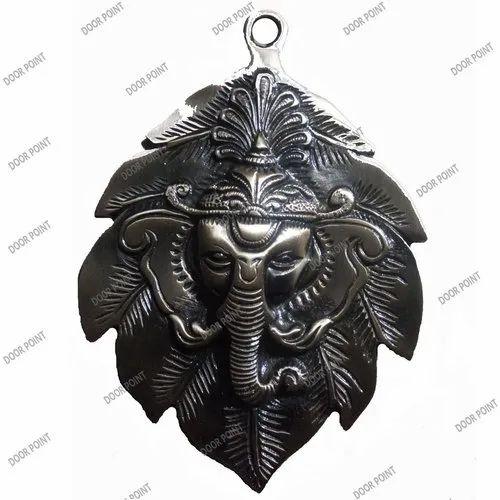 Leaf Ganesha Brass Wall Hanging