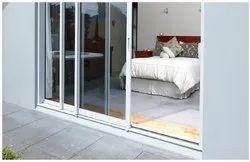 Aluminum (Frame) White ASD-005 Aluminium Sliding Doors, Exterior