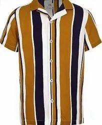 Cotton Plain Men's Casual Shirt, Size: 38