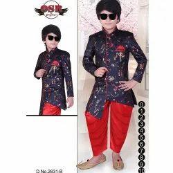 Boys Party Wear Patiala Sherwani Set