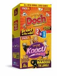 Kaadoo Koogu withDoch 2-In-1 Combo Pattern-Matching Friendly Animal Themed Card Games