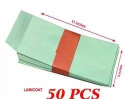 Green Coated Envelope