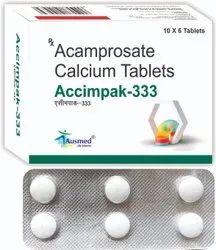 ACCIMPAK-333 Acamprosate Calcium 333mg., Tablet, Packaging Size: 10X6