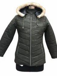 Ladies Party Wear Hooded Jacket