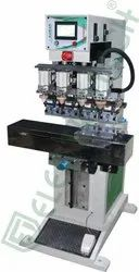 Electrotech Iron Pneumatic Pad Printing Machine Four Color, For toys, silver coin, Model Name/Number: Euro-85fcs