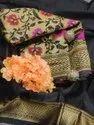Present Banarasi Silk Saree With Blouse Piece