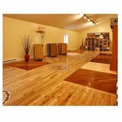 Laminated Wooden Flooring Service, Waterproof, Residential Building