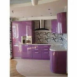 L Shaped Theme Kitchen