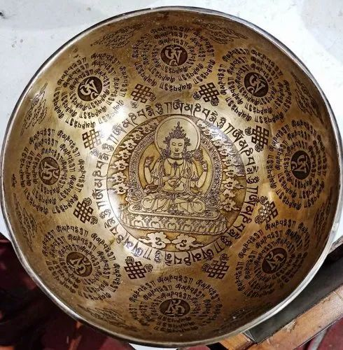Tibetan Hand Made Bowl With Carving Work