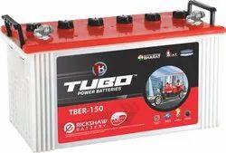 TUBO Electric Rickshaw Battery, Capacity 150 Ah, Model Name/Number: TBER-150