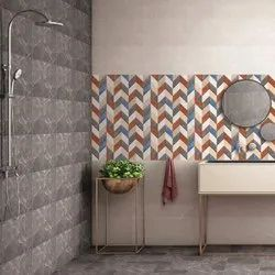 Ceramic Glossy Living Room Wall Tile, Thickness: 5-10 mm