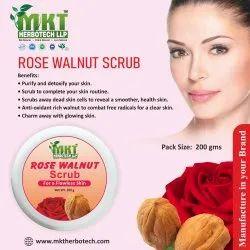 MKT Rose Walnut Scrub, Cream, Packaging Size: 200 Gm