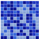 Blue Random Mix Tiles for Swimming Pool
