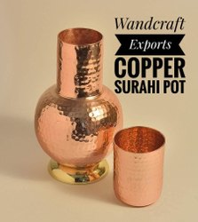 Copper Surahi Pot Bedroom Bottle Sugar Pot