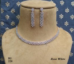 Radiant Impex American Diamond Fancy Necklace Set