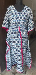 Amber Jaipur Cotton Women Wear Kaftan, Size: Medium