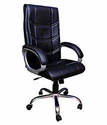 Black High Back Plain Leatherette Office Executive Chair