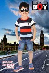 Blue Boy Garment Elastic Trousers Jeans Kidswear