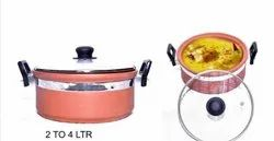 2 Terracotta Kadai Cookware Set, For Kitchen, Size: L - 4l,S - 2l
