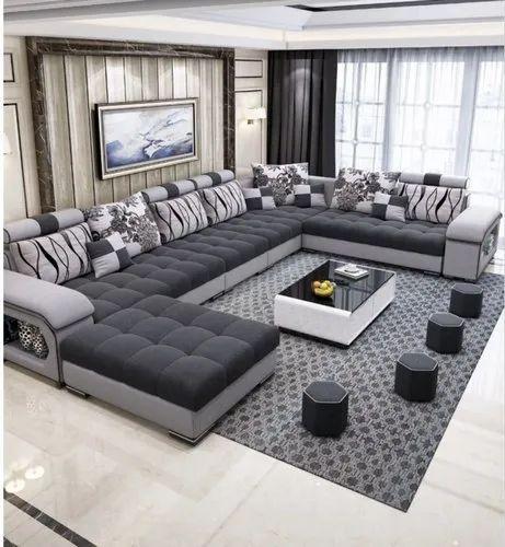 Modern Grey Living Room Sofa Set Rs, Grey Living Room Stools