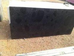 Polished Crystal Black Granite Slab, For Flooring, Thickness: 16.5 mm