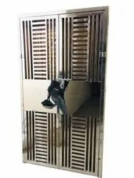 Modern Hinged Stainless Steel Gate, For Residential