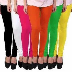 A.K.Garments 100% Cotton Plain Ladies Leggings