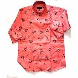 SDG Full Sleeve Men Printed Cotton Shirt