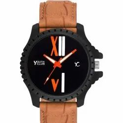 Youth Club Round Men Analog Watch, For Daily, Model Name/Number: BLK-133