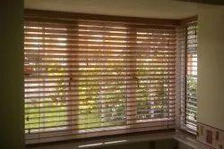 Wooden Brown Venetian Blinds, For Window