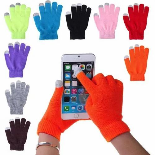 Mixed Touch Screen Gloves, For capacitive touchscreen devices, Size: Medium