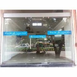 Hinged Plain Toughened Glass Door, For Office, Thickness: 12mm (glass Thickness)