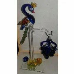 Decorative Glass Peacock