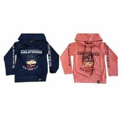 Imported Tensile Cotton Printed Kids Hoodies, Size: 16-36