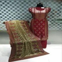 Chanderi Party Wear Ladies Fancy Stylish Suit