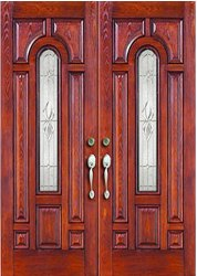 Exterior Brown Sagwan Wood Double Door, For Home, Size: 9 X 5 Feet
