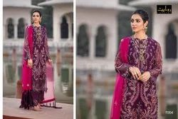 Rawayat Semi-Stitched Beautiful Georgette Embroidered Pakistani suit, Dry clean