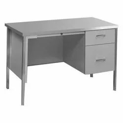 Metal Table With Drawers.